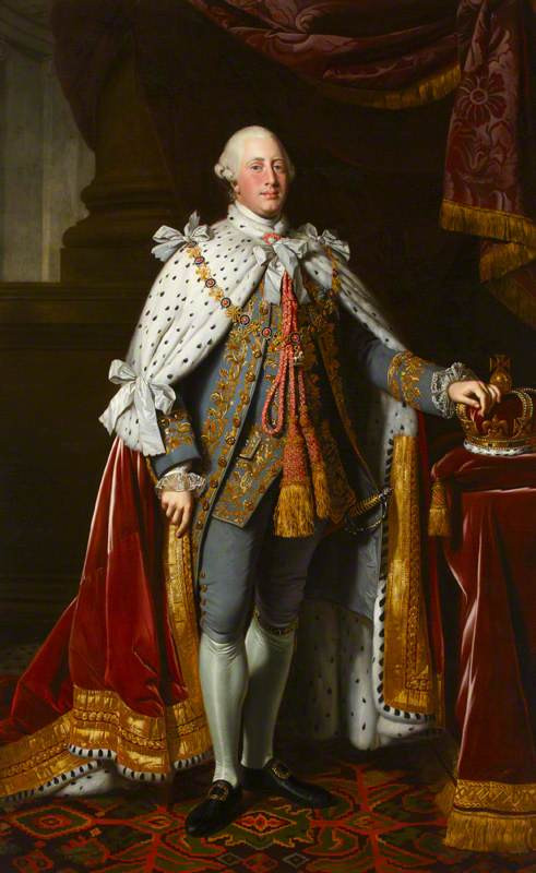 Portrait of King George the third wearing ermine cap