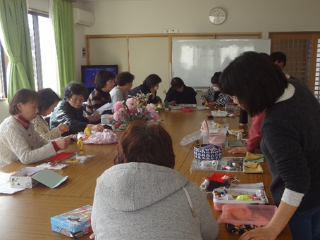 田子西中央復興住宅で第4回手芸カフェ開催
