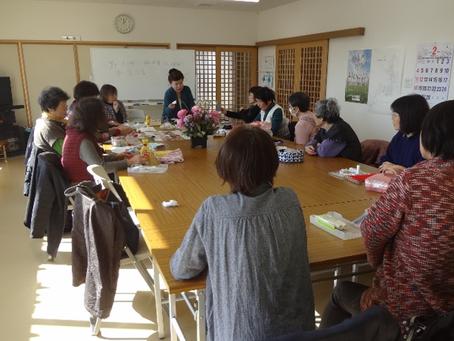 田子西中央復興住宅で第3回手芸カフェ開催
