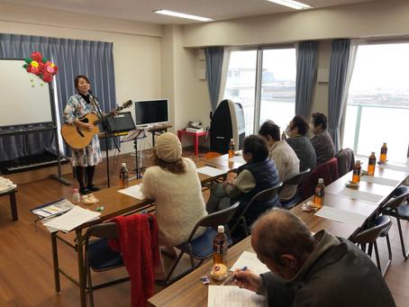 閖上中央第一団地集会所にてコンサート開催