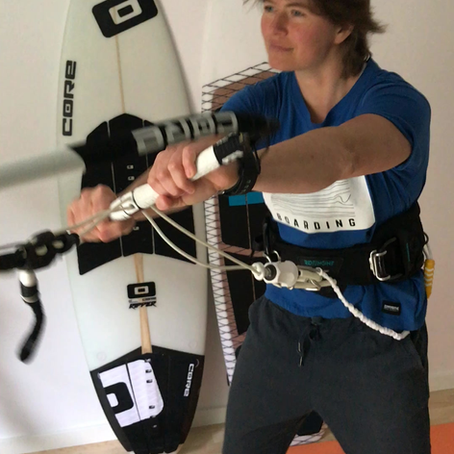 Lower back fix for kitesurfers