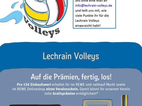 Lechrain Volleys sammeln fleißig Scheine