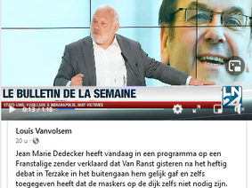 Na het publiek debat tussen Marc en Jean-Marie...