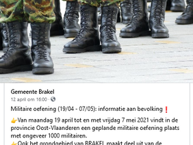 Waarom doet de gemeente Brakel net nu militaire oefeningen?