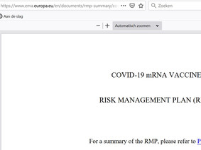 EMA Confidential report: Risk Management Plan Comirnaty (vaccin Pfizer) 20.12.2020