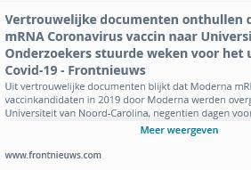 Moderna MRNA vaccin bestond voor uitbraak virus