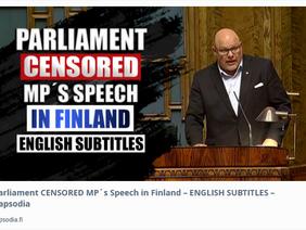 Fins parlementslod windt er geen doekjes om...