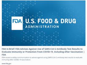 FDA raadt antilichamentest voor gevaccineerden af en CRISPR Cas9 technologie