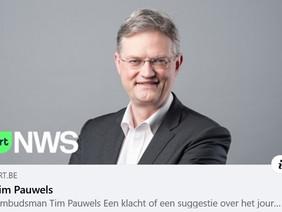Ombudsman VRT Tim Pauwels gaat over de schreef