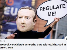 Facebook in ongelijk gesteld door toezichtsraad