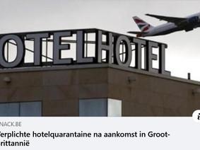 Verplichte hotelquarantaine in de UK