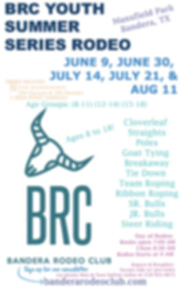 BRC Youth Summer Series Rodeo 2018 Flyer