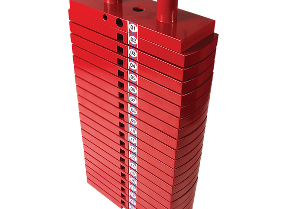 Premium Red Steel Selectorized Weight Stack 200Lbs
