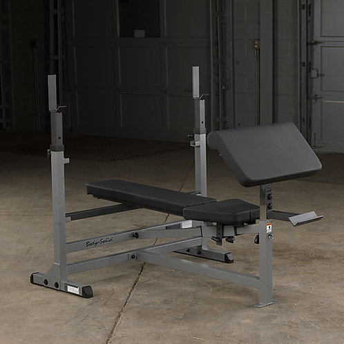 Body-Solid PowerCenter Bench Package with Lat and Preacher Curl Attachment
