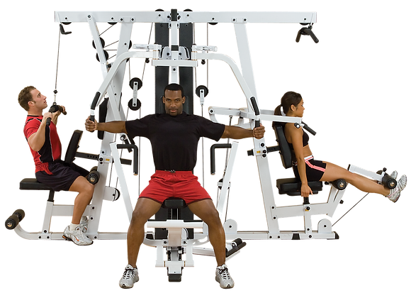 BODY-SOLID EXM4000S 3 STACK GYM