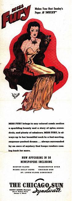 Miss Fury Vintage Ad