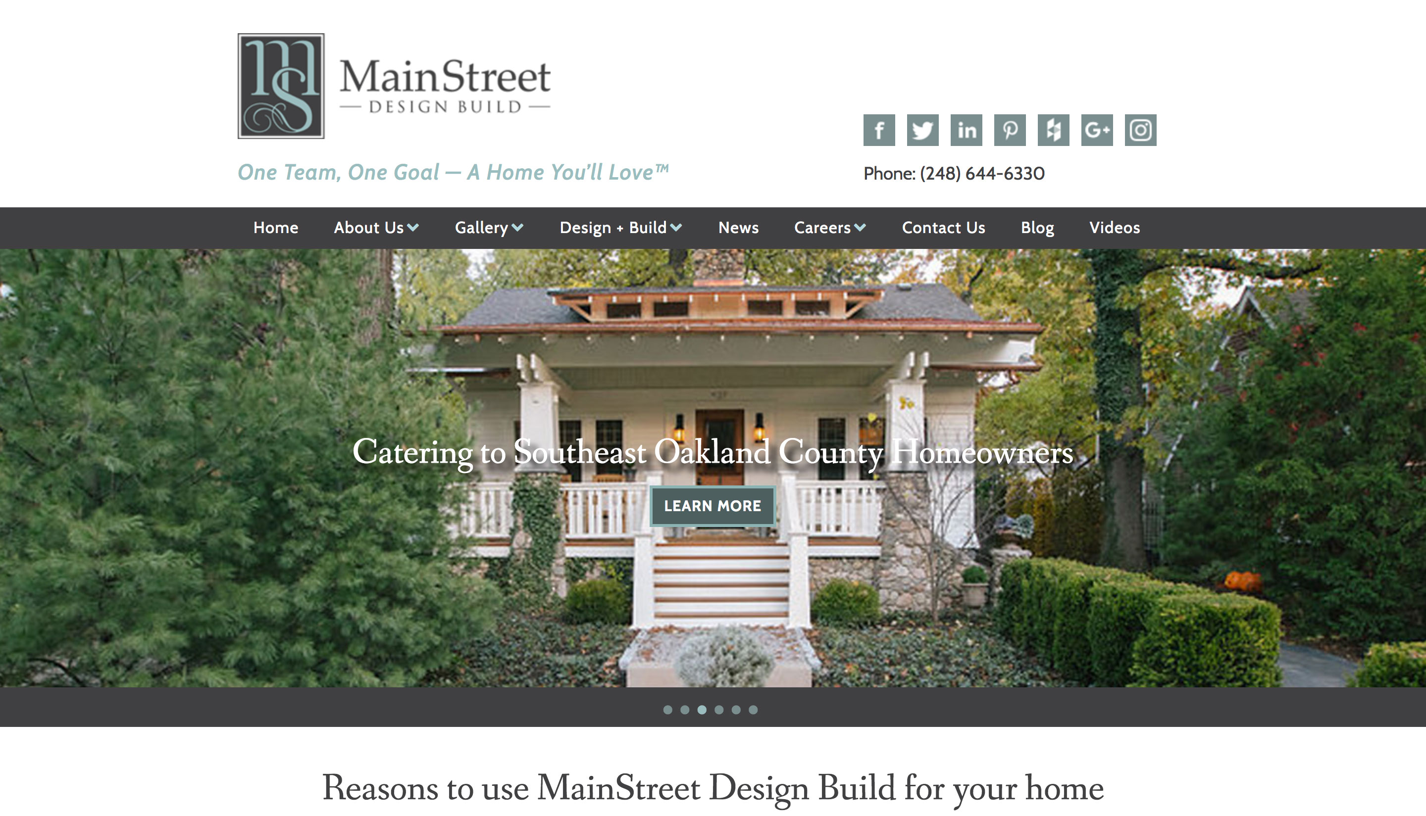 MainStreet Design Build Website