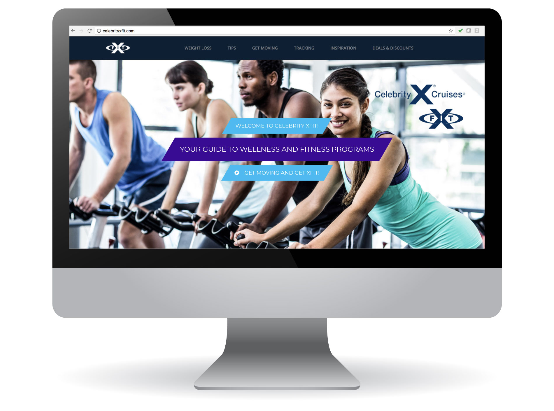 Celebrity Cruises XFIT Website