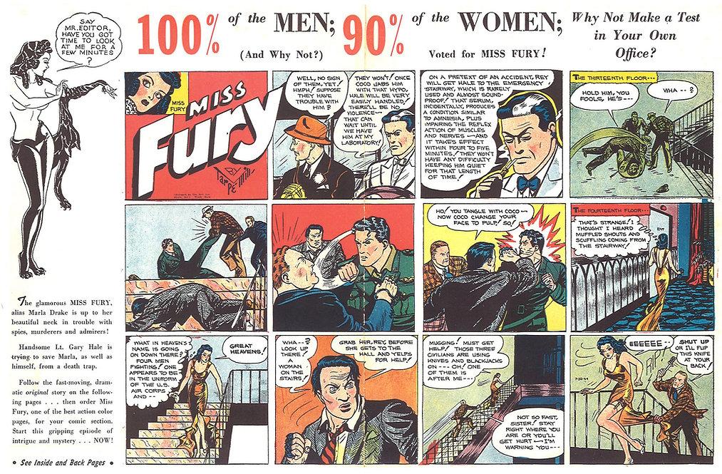 Miss Fury Comic Strip by Tarpe Mills