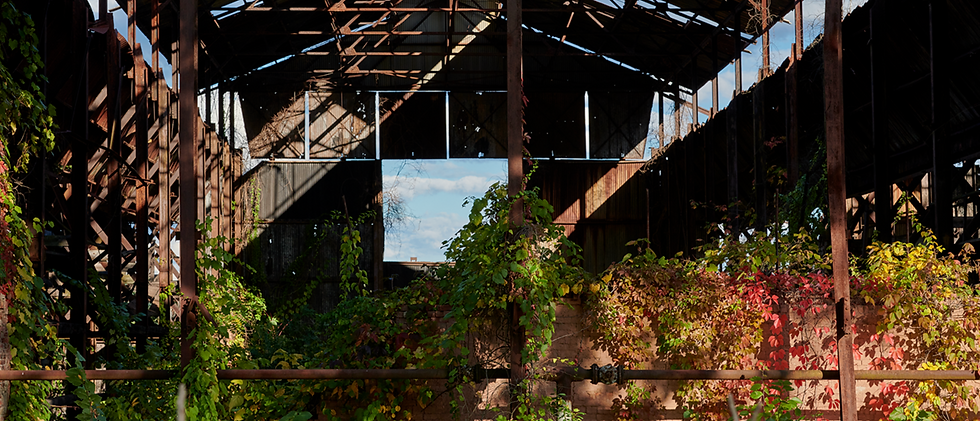 Inside View of a Brick Making Building