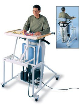 Hausmann Model 6175 Hi-Lo Econo-Line Stand-In Table Standing Frame with Electric Patient Lift