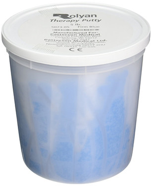 Sammons Preston Therapy Putty for Physical Therapeutic Hand Exercises, Flexible Putty for Hand Recovery and Rehabilitation, Strength Training, Occupational Therapy, Arthritis, 1 Pound, Firm, Blue