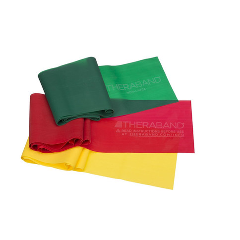 TheraBand Resistance Bands Set, Professional Non-Latex Resistance Bands For Rehabilitation, Portable Fitness and Workout, Home Exercise