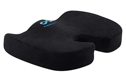 Everlasting Comfort 100% Pure Memory Foam Luxury Seat Cushion, Orthopedic Design To Relieve Back