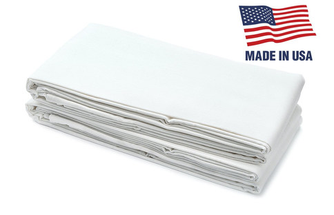 """Pack Of 2 - USA Made - Hospital Bed Fitted Bottom Sheets - 38"""" x 80"""" x 9.5"""" Twin XL Size - 50/50 Cotton/Polyester Extra-Strong Blend"""