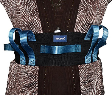FLASH SALE! Original Physical Therapy Transfer & Walking Gait Belt with 7 Hand Grips & Easy Release Plastic Buckle. Lift straps for patient- (METAL Buckle).