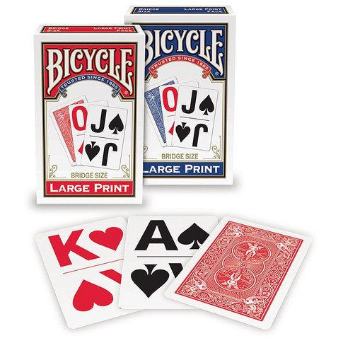 Bicycle Large Print Playing Cards