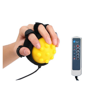 Healsmile® Electric Hot Compress Stroke Hemiplegia Finger Recovery Equipment Hand Training Electric Fingers Massager 110V-220V Infrared Therapy Finger.