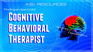 Cognitive Behavioral Therapist abi waive