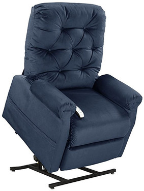 Mega MotionClassica Power Lift Chair Recliner- Navy (Curbside Delivery)