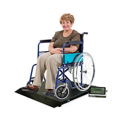 Digital Portable Floor Wheelchair Scale Platform with Ramp Medical Electronic