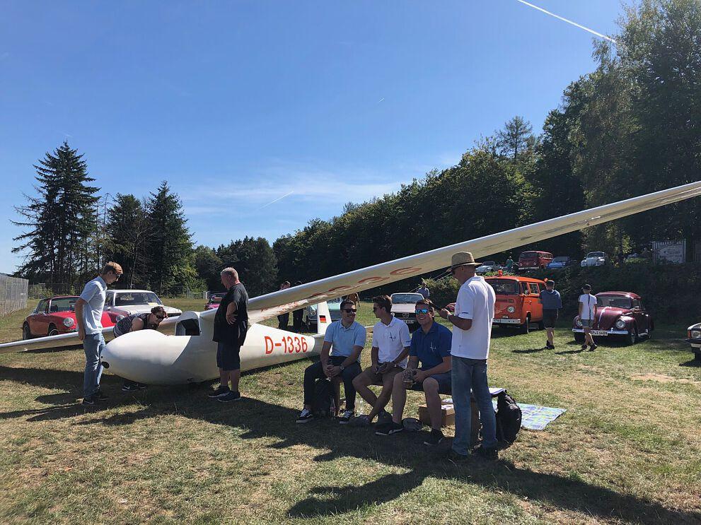 Ka 6 CR Segelflugzeug beim MSF Frammersbach