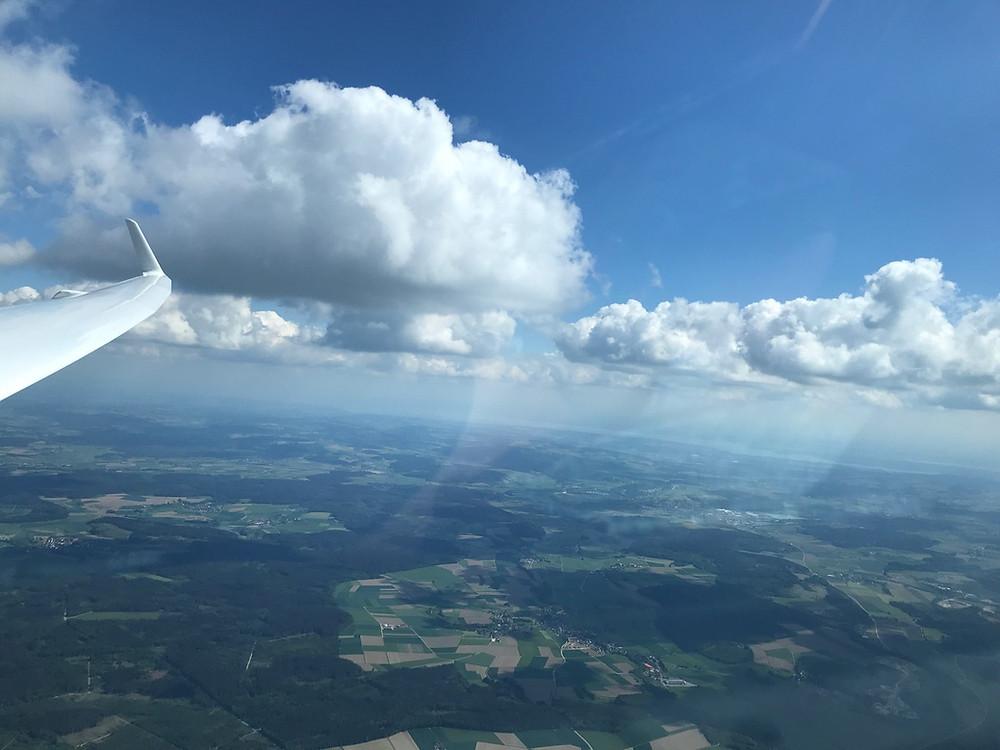 Bodensee aus dem Segelflieger