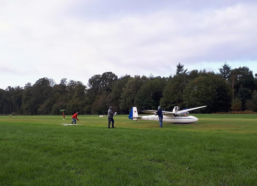 Ka2b glider after target landing