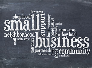 small business concept - word cloud on a