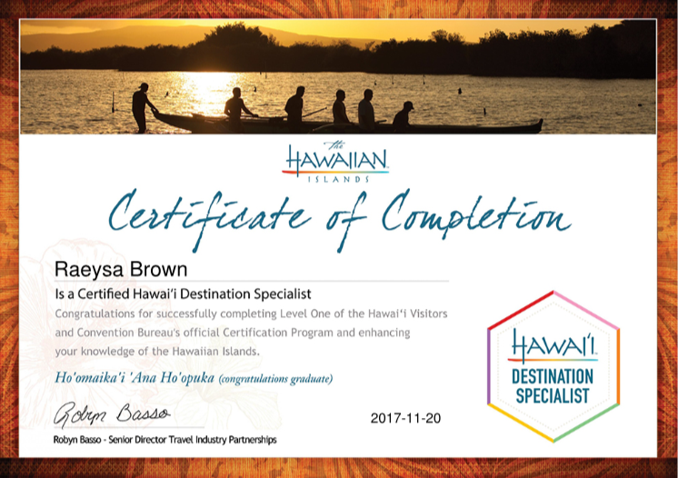 Hawaii Destination Specialist