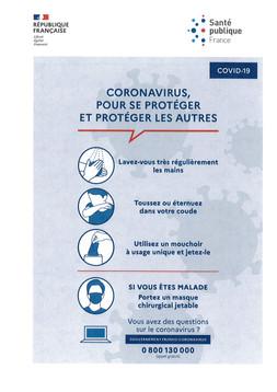CORONAVIRUS (COVID-19) :  CONSIGNES DU GOUVERNEMENT A SUIVRE...