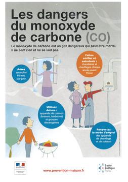 ATTENTION ! DANGER AU MONOXYDE DE CARBONE (CO)
