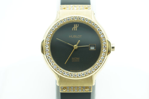 Hublot MDM Classic Lady Factory Diamond 18K Yellow Gold