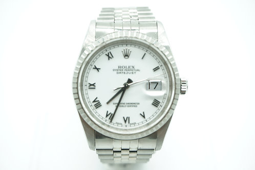 Rolex Datejust White Roman Dial Stainless Steel