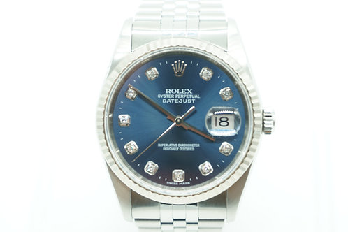 Rolex Datejust Factory Diamond Dial Stainless Steel