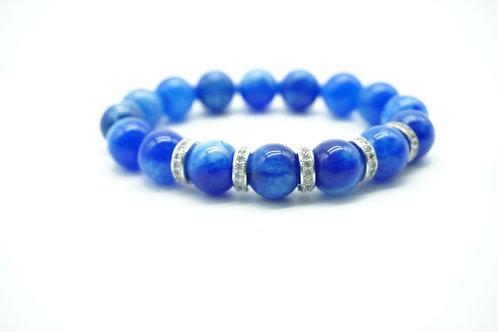 Blue Lapis 5-Charm Pave