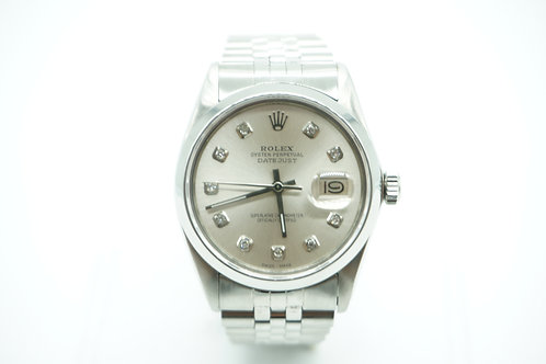 Rolex Datejust Champagne Diamond Dial Stainless Steel