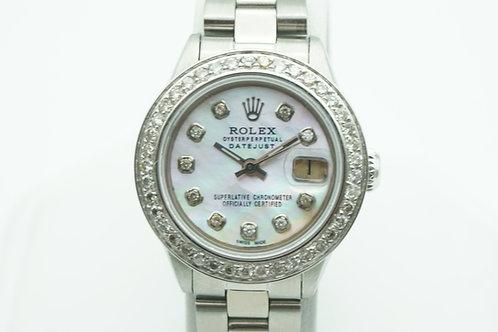 Rolex Datejust 26 Mother of Pearl Diamond Dial & Bezel Oyster Bracelet