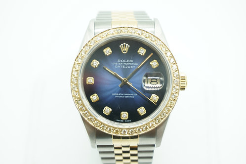 Rolex Datejust Vignette Blue Diamond Dial & Bezel