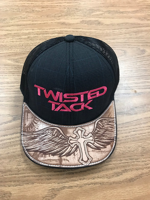 LEATHER BILL TWISTED TACK HAT